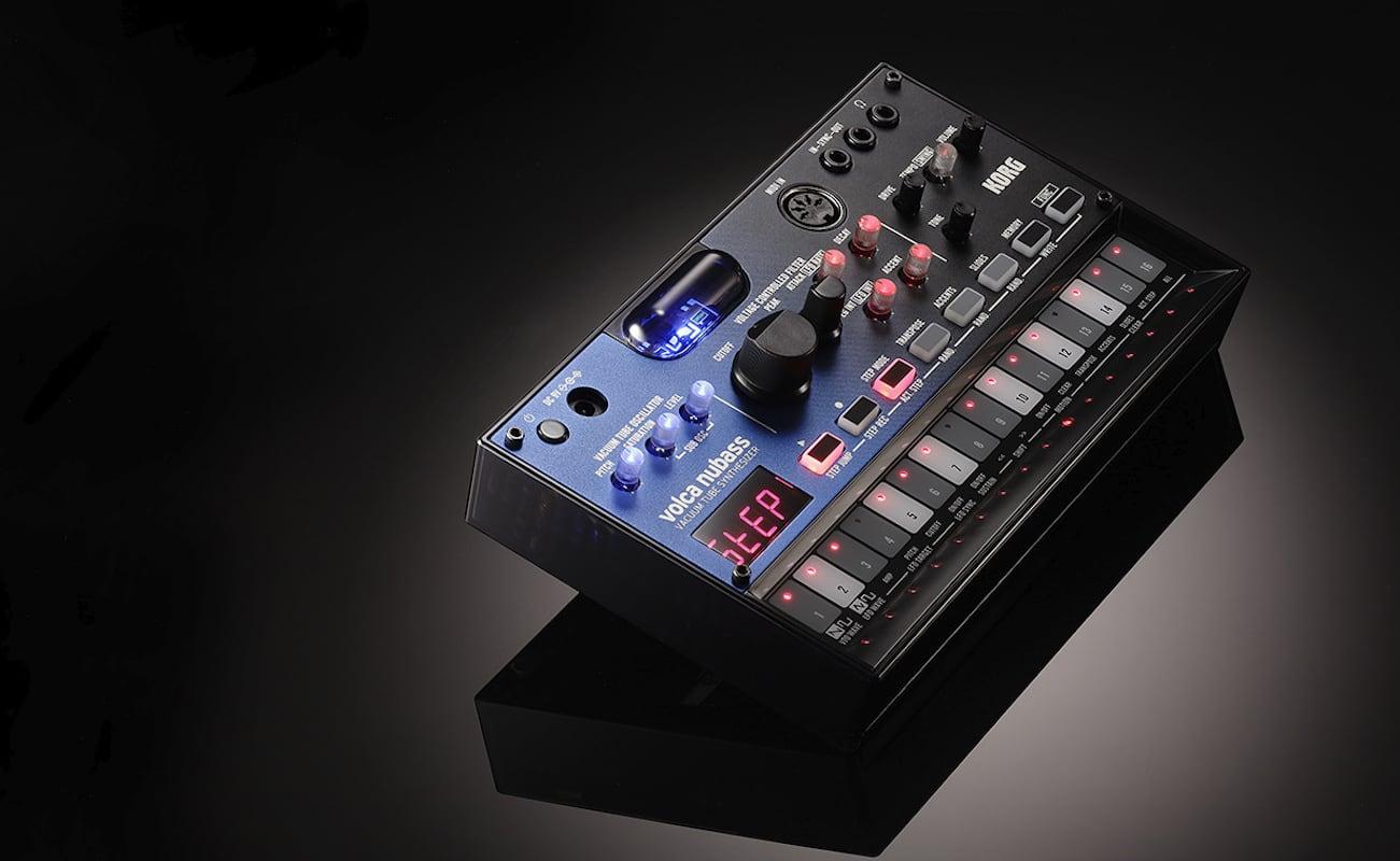 Korg volca nubass Vacuum Tube Synthesizer provides warm, deep analog sound