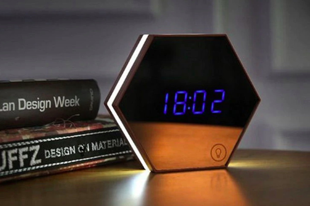 Multi-Function LED Mirror Alarm Clock offers four functions in one