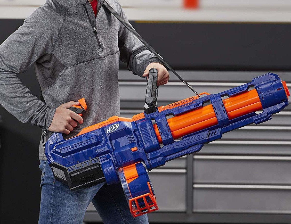 NERF Elite Titan CS-50 Toy Blaster Motorized Dart Shooter holds up to 50 darts at once