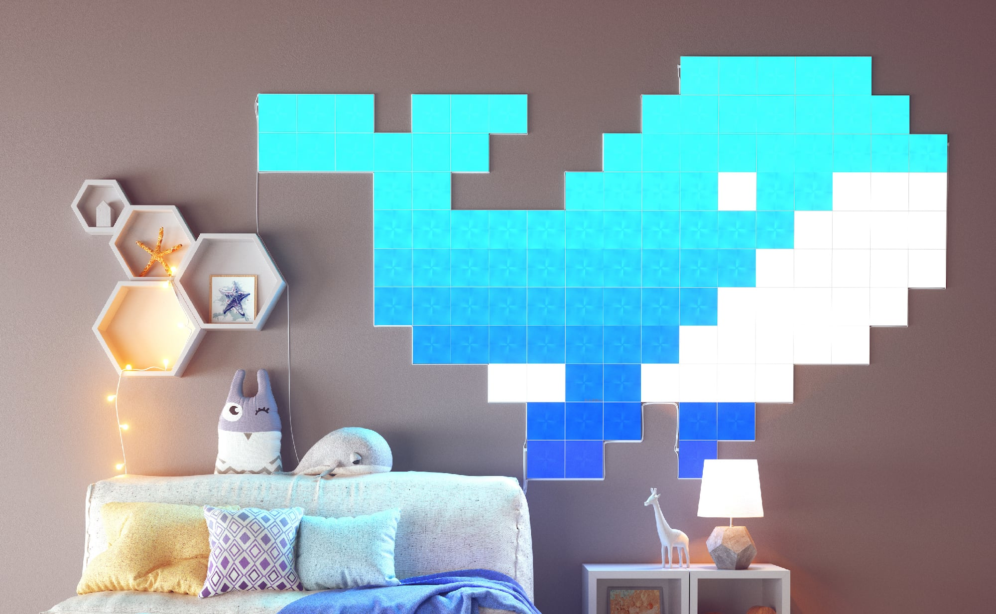 Nanoleaf Canvas Interactive Ambient Light lets you create changing wall and  ceiling art