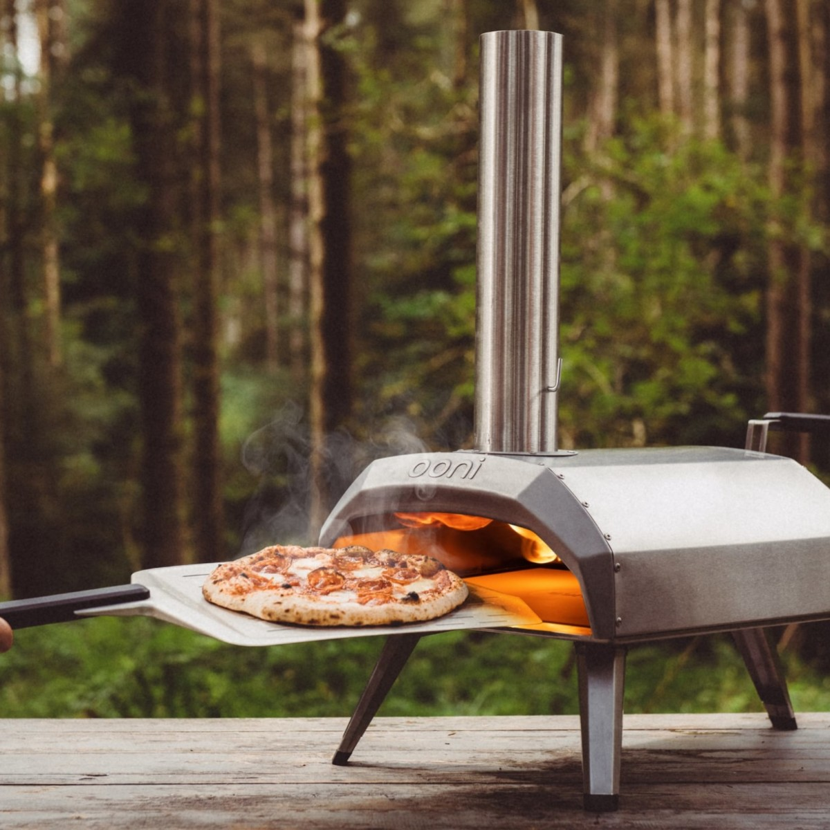Ooni Karu Wood-Fired Portable Pizza Oven gives you the most delicious pizza anywhere, anytime