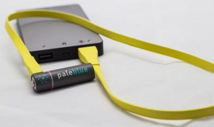 Pale Blue USB-Rechargeable Batteries