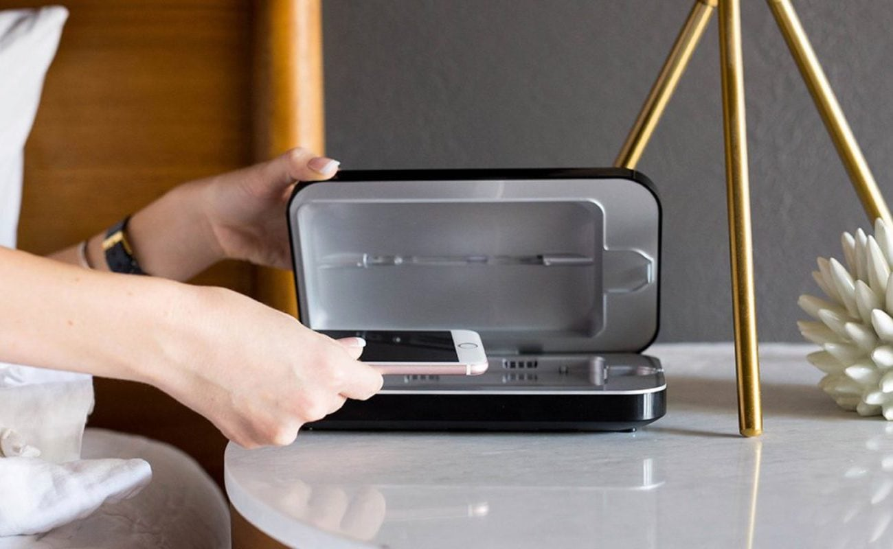 PhoneSoap 3 UV Phone Sanitizer kills nearly all the bacteria on your phone