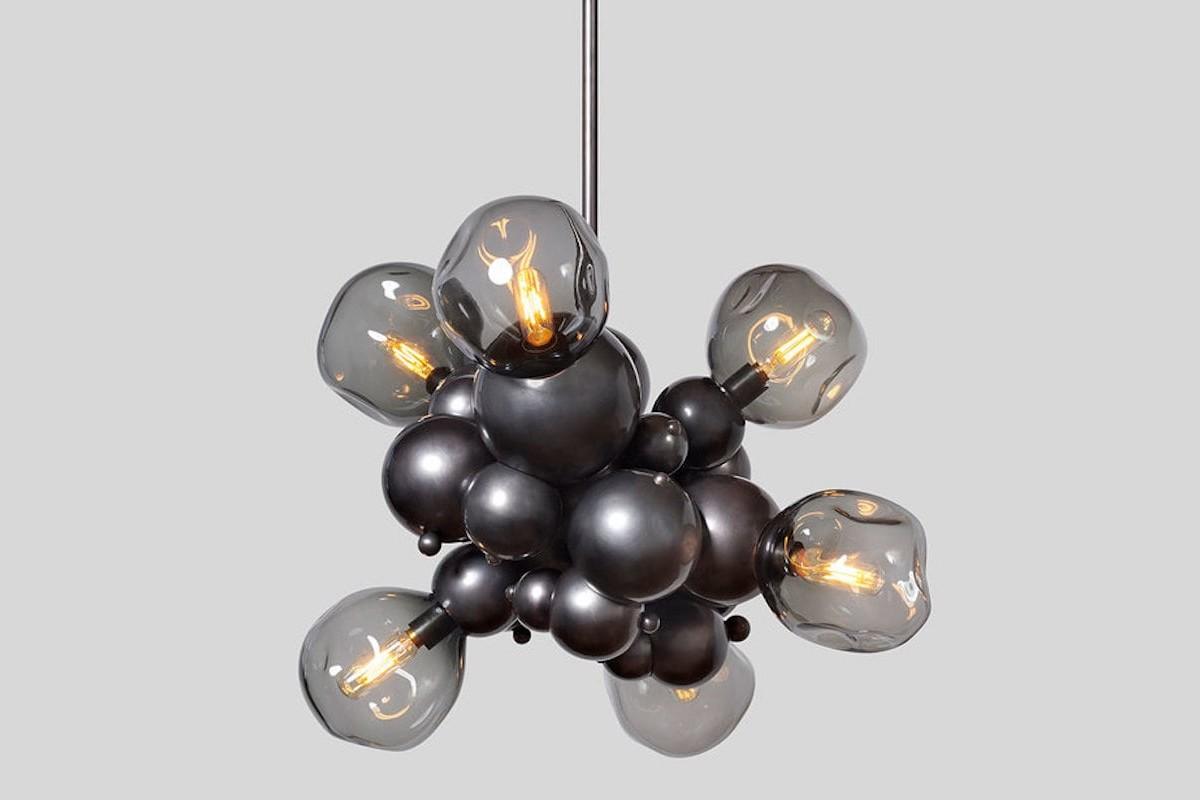 Rosie Li Bubbly Light Chandelier Bronze Pendant Lamp adds a unique illumination to your home