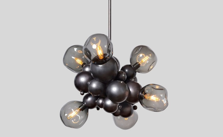 "Rosie Li Bubbly <em class=""algolia-search-highlight"">Light</em> Chandelier Bronze Pendant Lamp adds a unique illumination to your home"