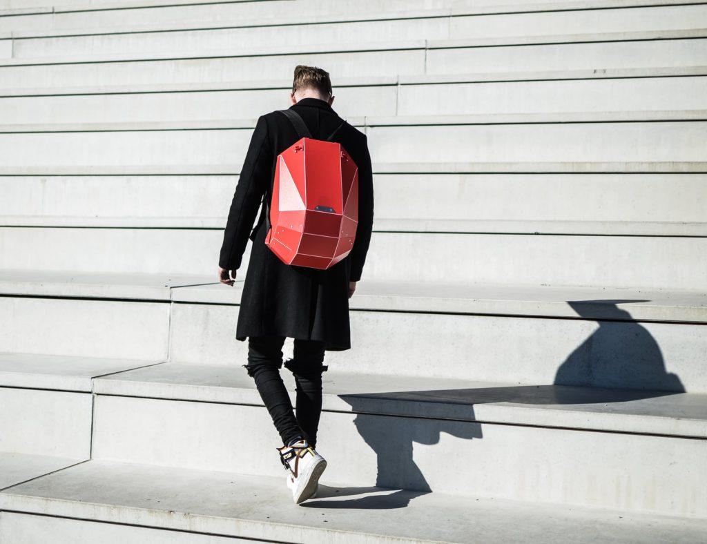 SOLID GRAY Lightweight Hardshell Backpack