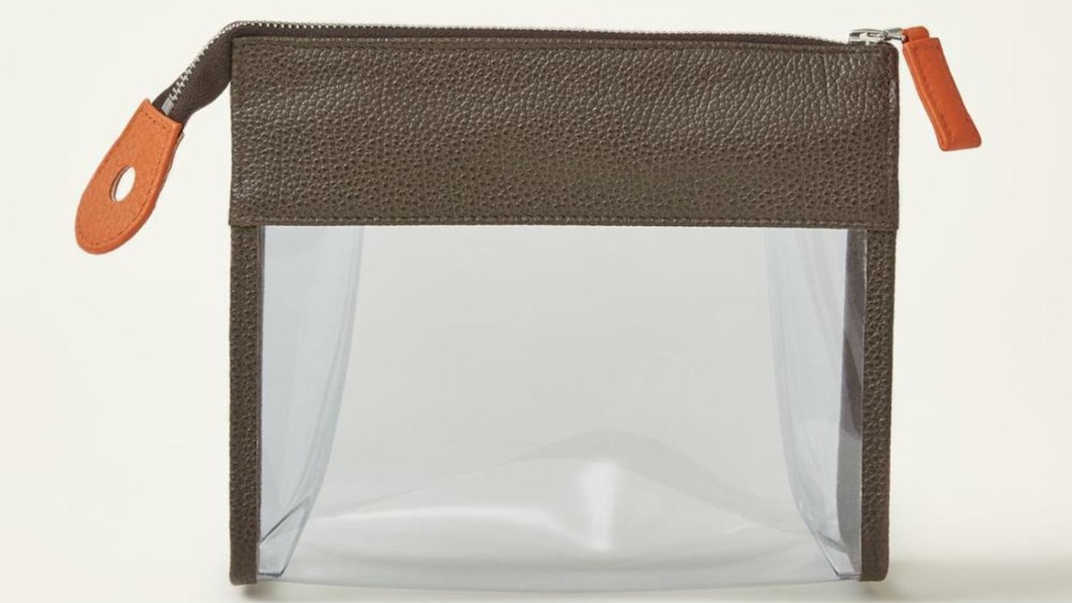 See-Through Travel Toiletry Pouch holds all your in-cabin liquids