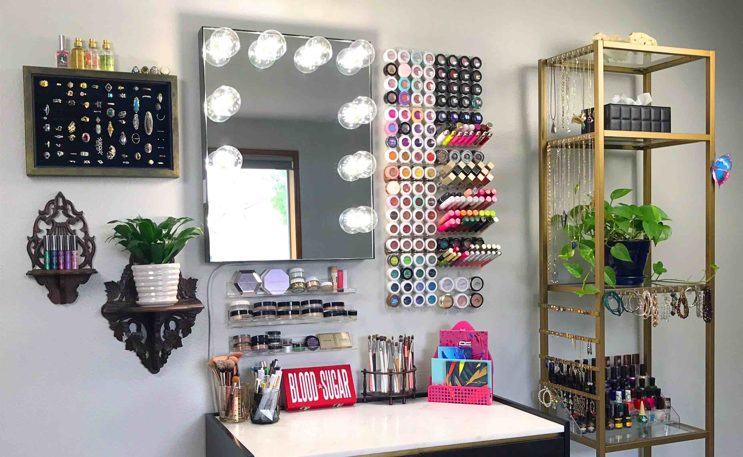 shadow rack modular makeup organizer will transform your space