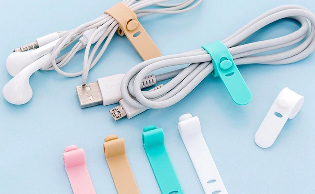 Silica+Gel+Pastel+Flexible+Cable+Tidy+adjusts+to+the+size+you+need