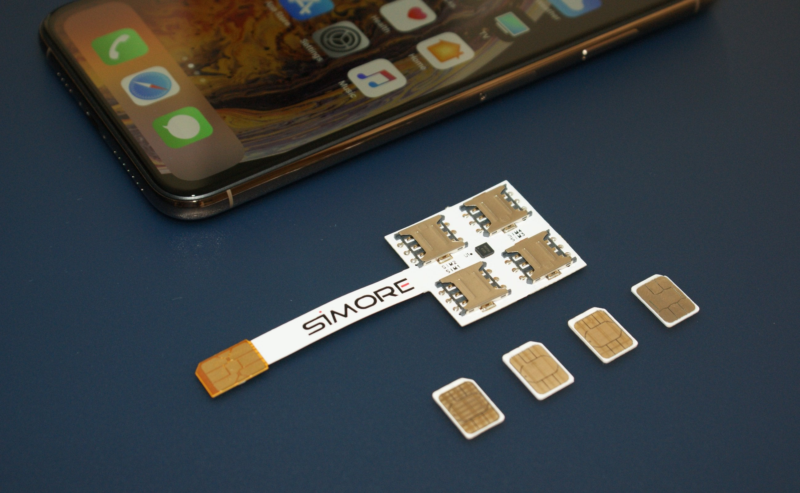 SIMore Speed X-Four iPhone Multi-SIM Adapter Case gives you access to four numbers