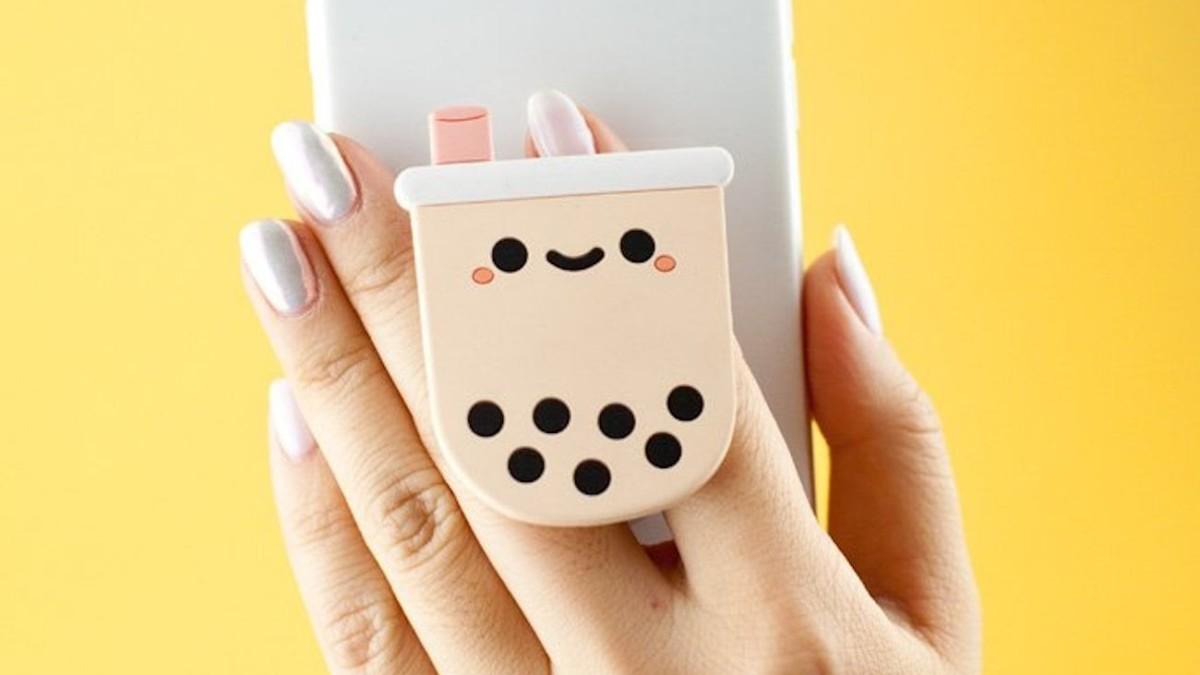 Smoko Kawaii Pop Dumpling and Boba Phone Holders helps you take one-handed selfies