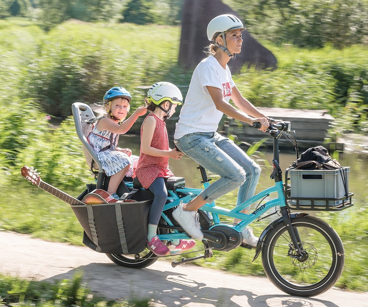 Tern GSD Compact Electric Cargo Bike is built for your whole family and their gear