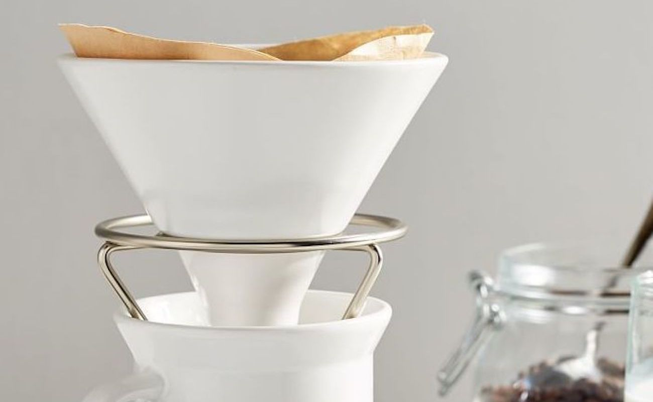Umbra Perk Coffee Pour Over Ceramic Drip System enhances your minimalist coffee routine