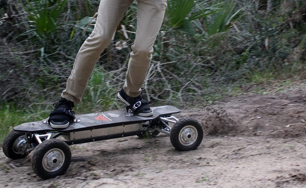 Velox+Off-Road+Electric+Skateboards+give+you+full+suspension+for+every+jump