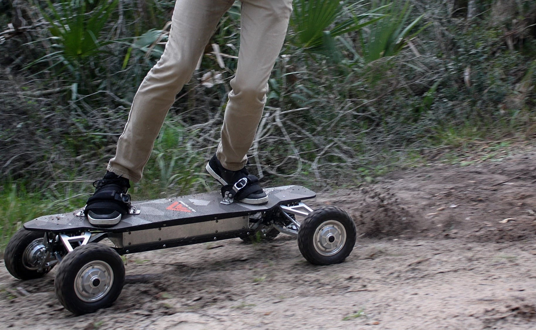 Velox Off-Road Electric Skateboards give you full suspension for every jump