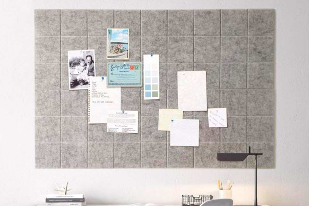 Wall-Mounted Felt Message Board keeps your important stuff where you can see it