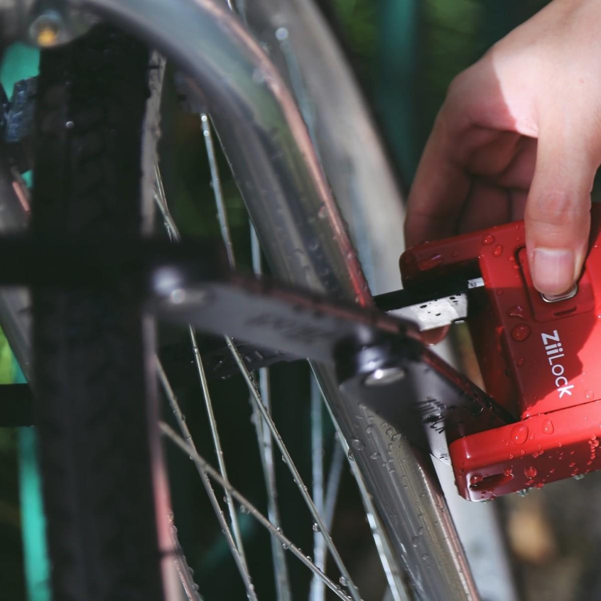 ZiiLock Foldable Proactive Bike Lock offers all-around active security