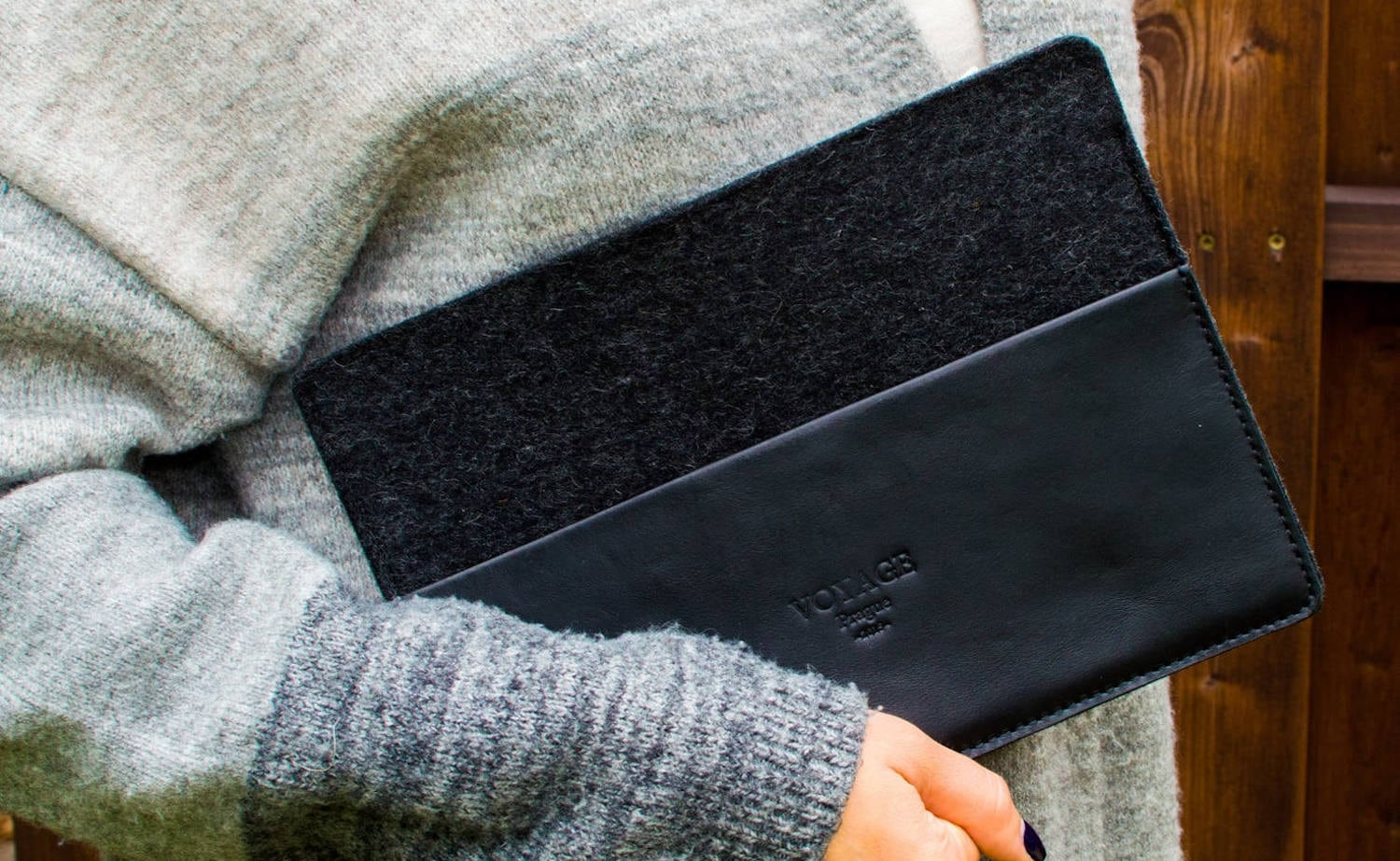 iPad Sleeve Wool Felt Case provides a cozy little home for your iPad