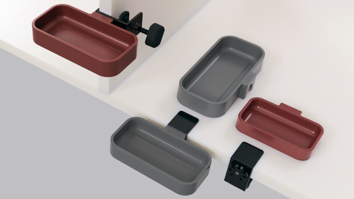 quipt Tray & Clamp quick-connecting utility dish is designed for the modern maker