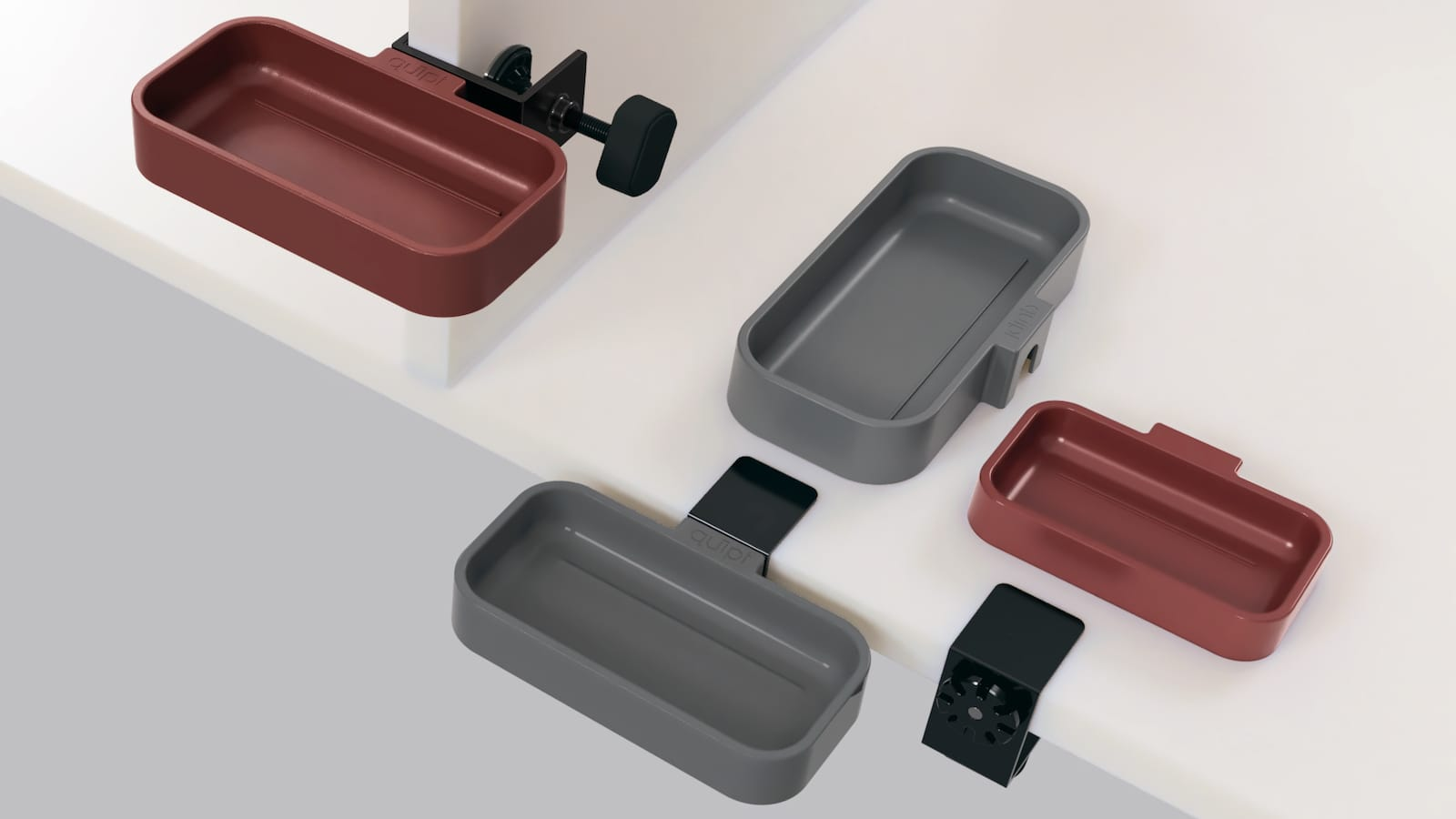 quipt Tray & Clamp quick-connecting utility tray is designed for the modern maker