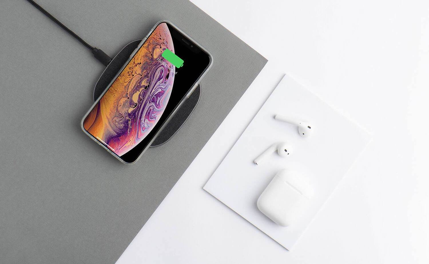 totallee Wireless Charger Thin Charging Pad fast charges any Qi-enabled device