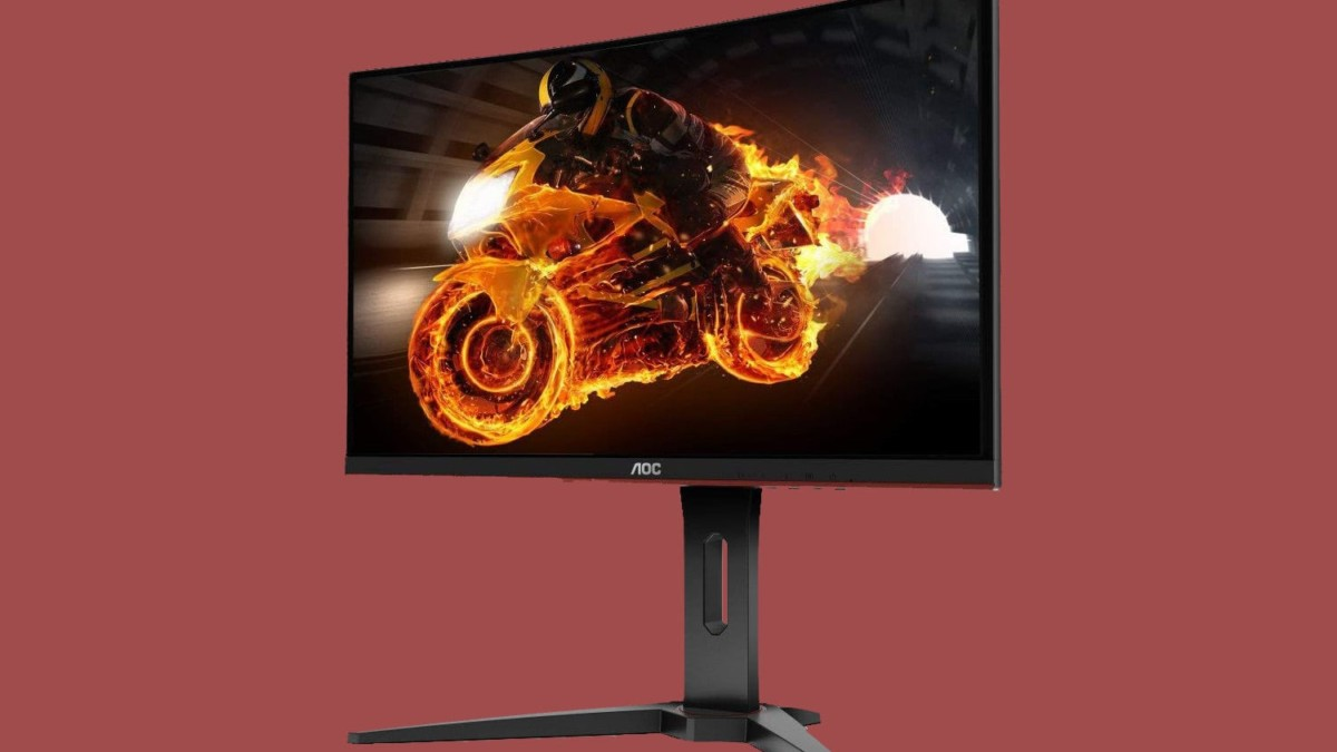 AOC C27G1 27″ Curved Frameless Gaming Monitor offers AMD FreeSync for super smooth gameplay
