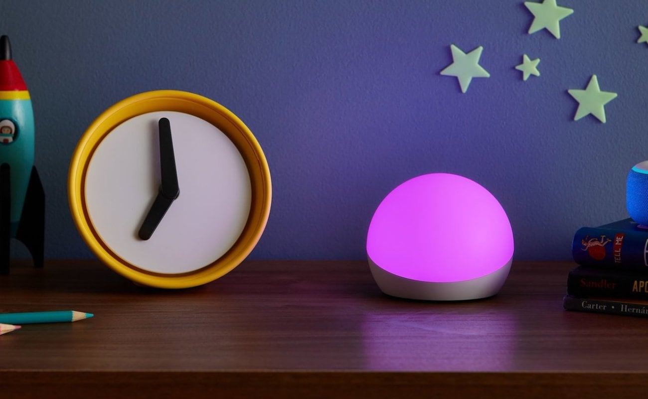 Amazon Echo Glow Companion Lamp responds to your voice for fun party modes
