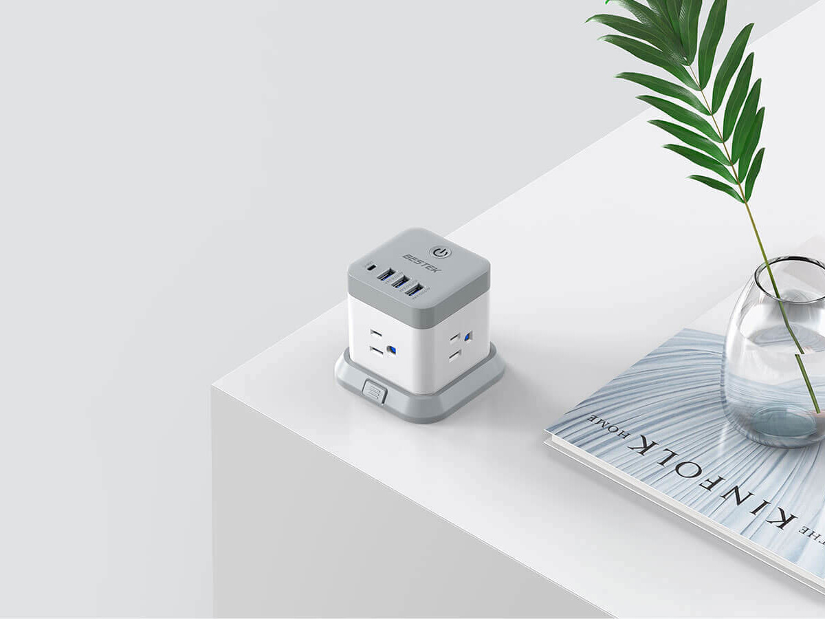 BESTEK Mountable USB Power Strip Cube has every port you need