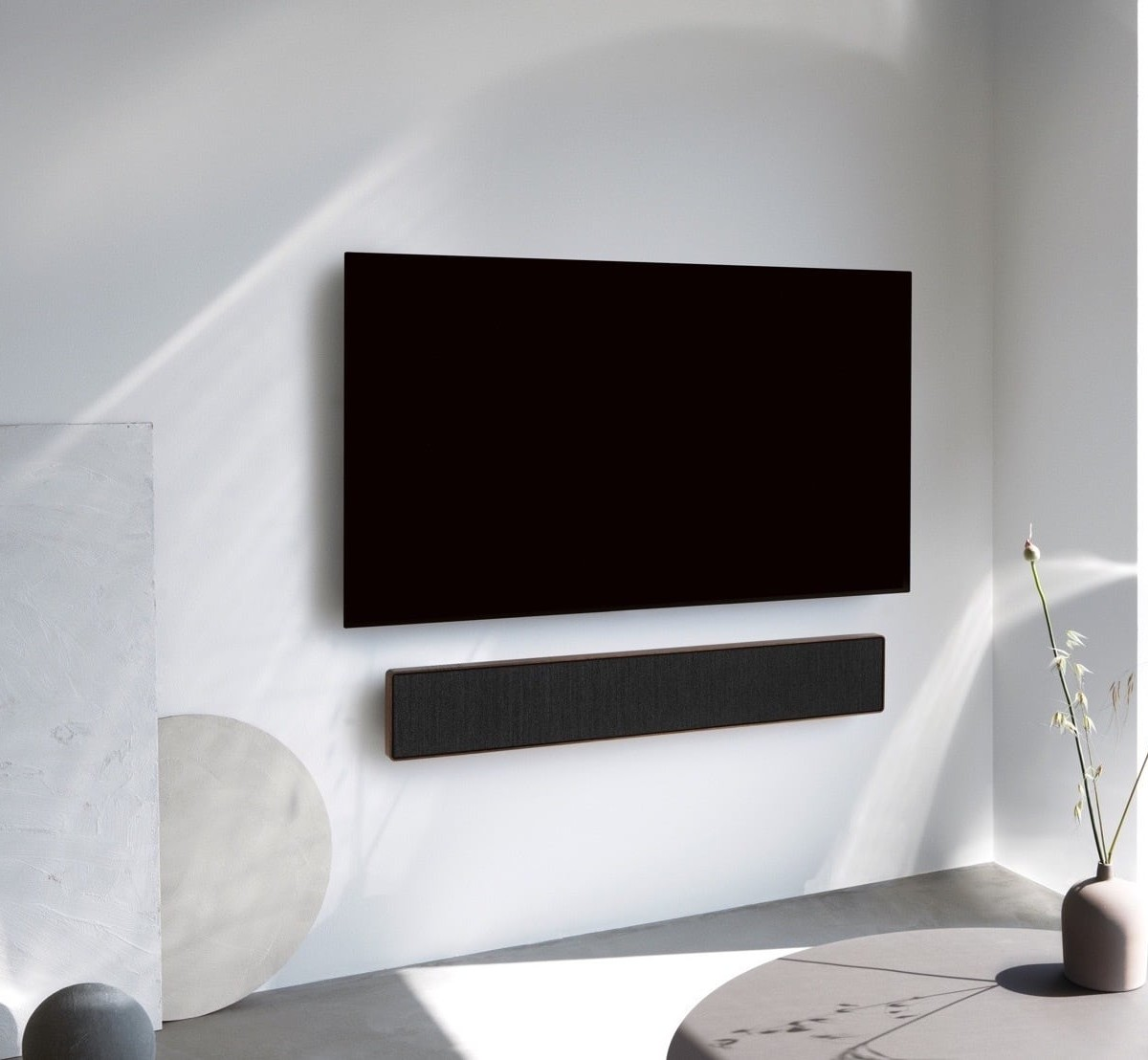 Bang & Olufsen Beosound Stage Soundbar beautifully complements your television