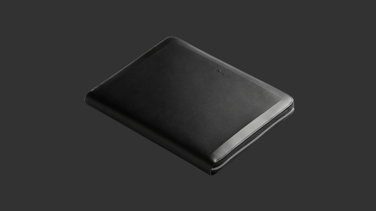 Bellroy Tech Folio Slim Leather Laptop Sleeve fits your 13″ computer and other essentials