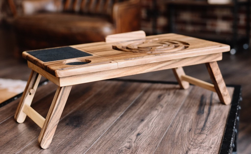 BigLemur+Walnut+Laptop+Stand+lets+you+comfortably+use+your+computer+anywhere