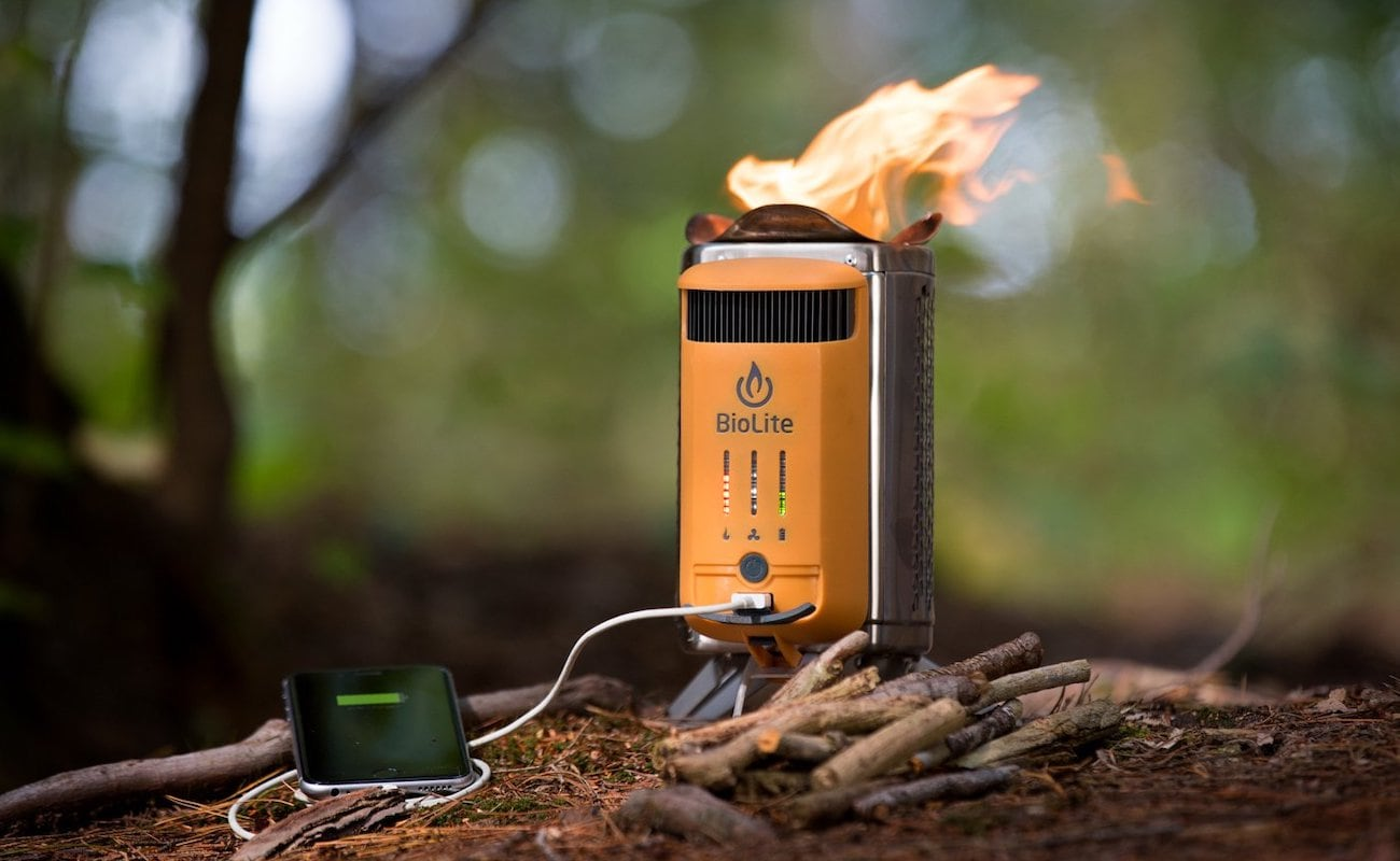 BioLite CampStove 2 Electricity-Generating Wood Burner turns fire into electric power