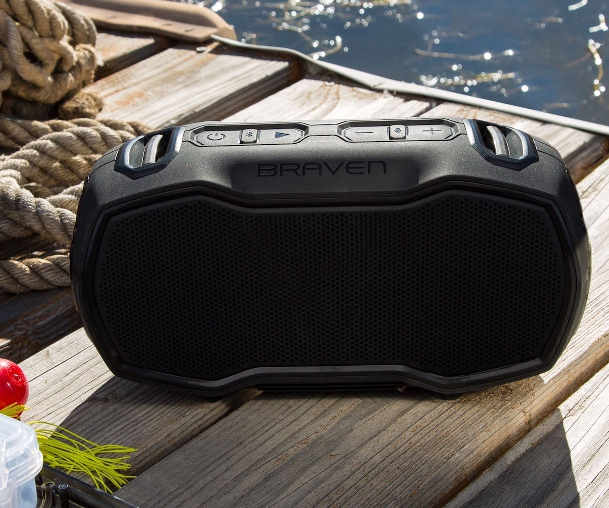 Braven Ready Elite Bluetooth Waterproof Speaker is housed in a drop-proof exterior