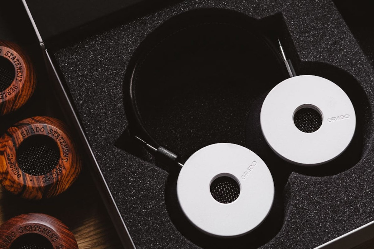 Grado Labs The White Cured-Maple Headphone has more wood for a full-bodied sound