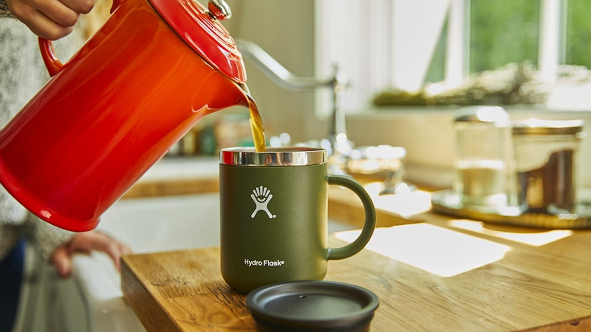 Hydro Flask 12-Ounce Coffee Mug Insulated Cup keeps your drink the right temperature for hours