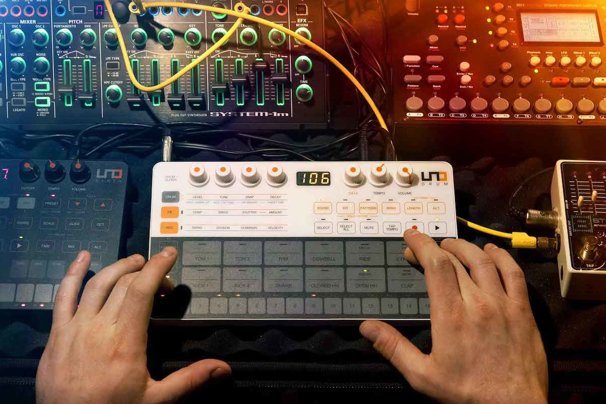 IK Multimedia UNO Electronic Drum Machine is perfect for recording and performing