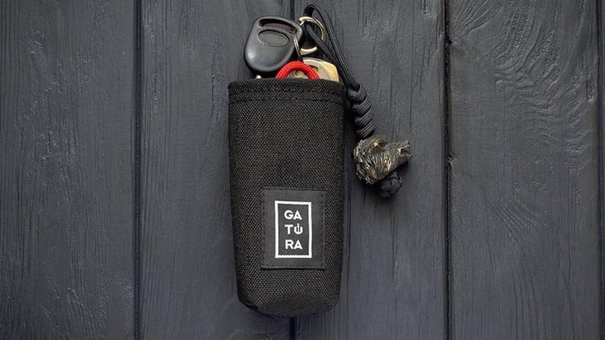 GATURA Key Organizer Cordura Pocket Bag quiets any annoying jangling