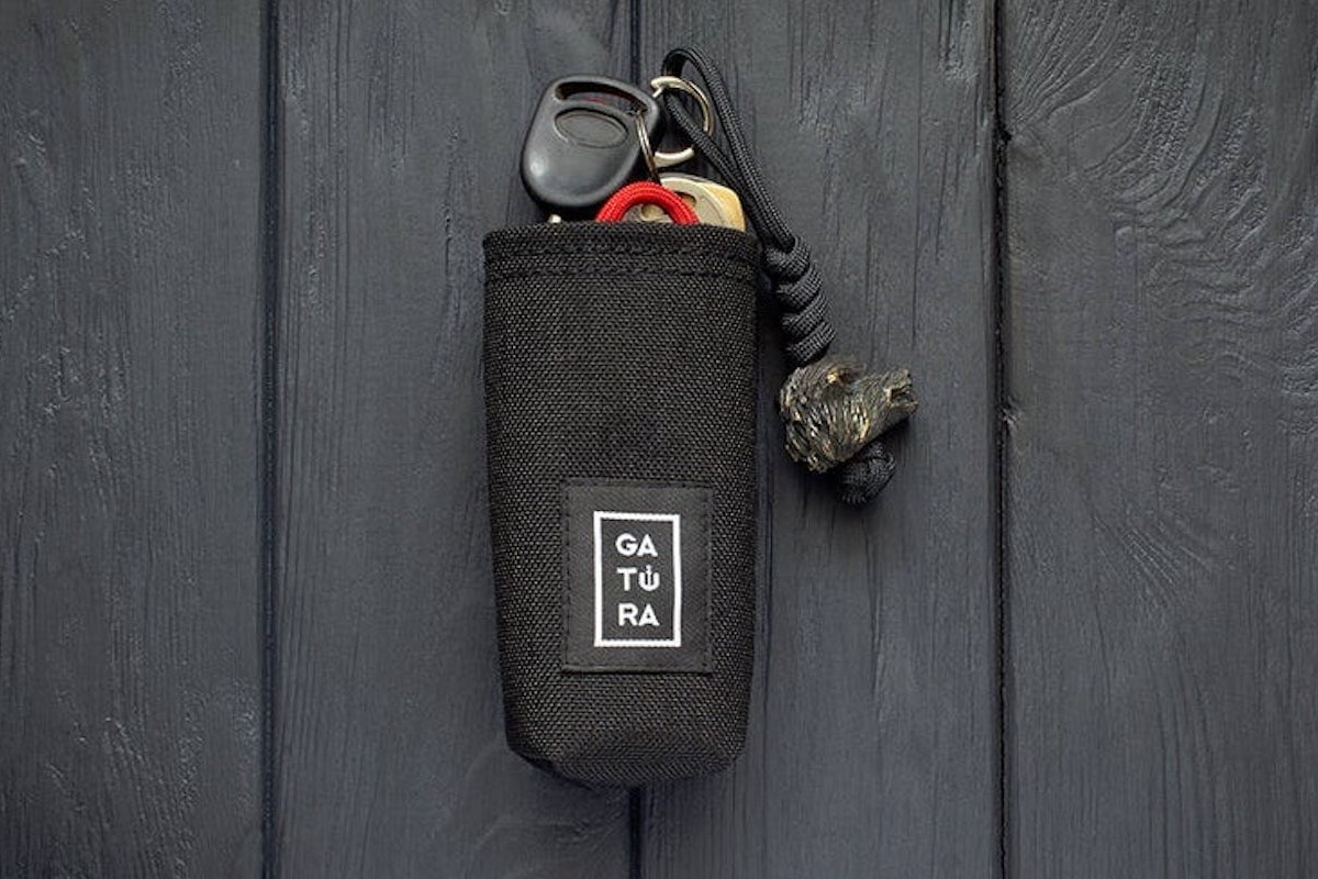 GATURA Key Organizer Cordura Pocket Bag quiets any annoying jangling