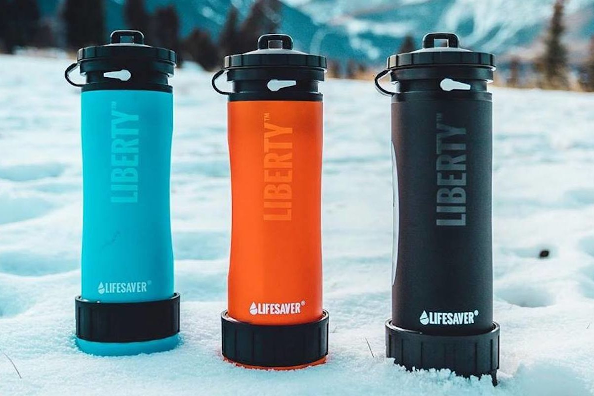 LifeSaver Liberty Water Filter Purification Bottle acts as both a portable pump and container