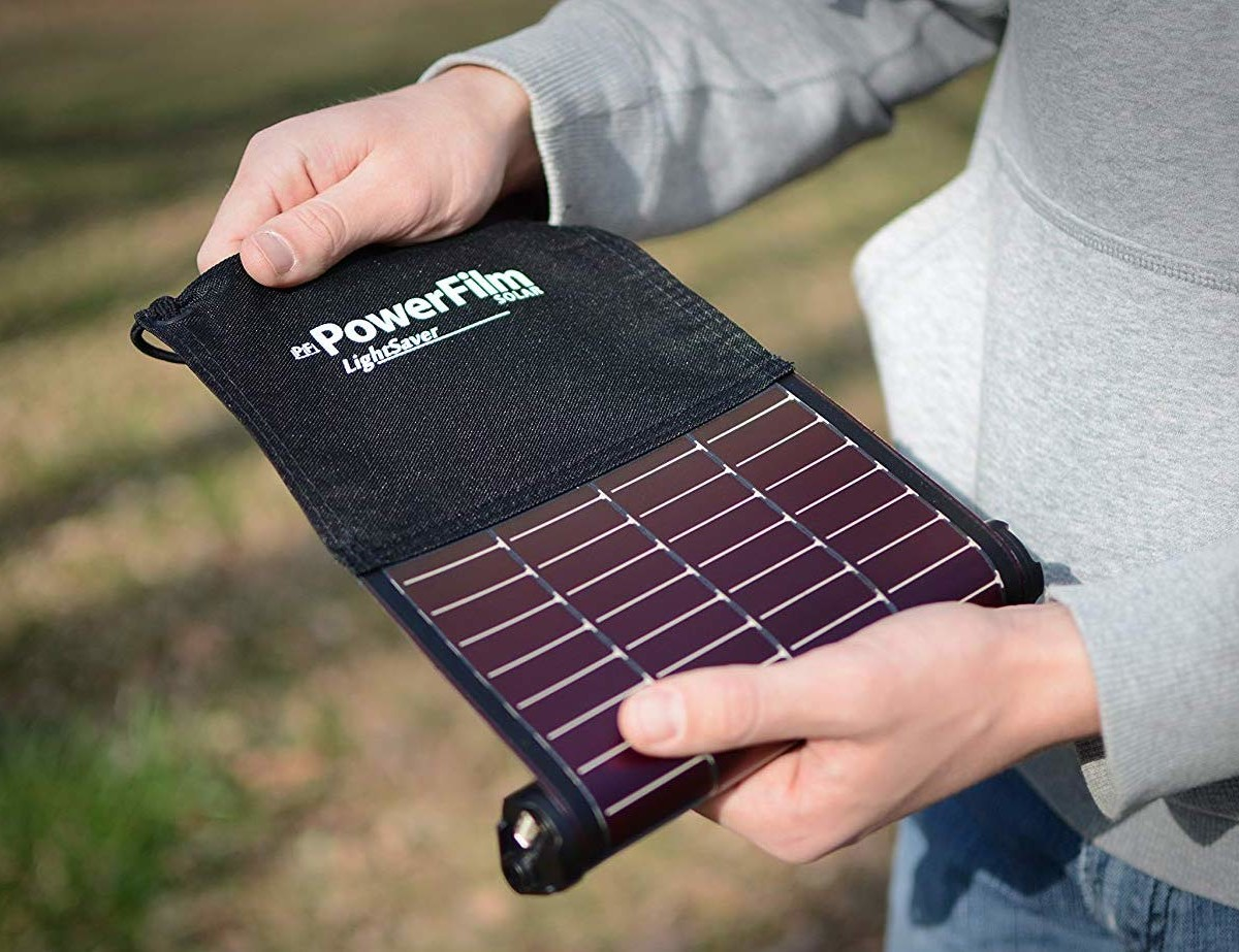 LightSaver Roll-Up Solar Charger keeps your phone charged even off the grid