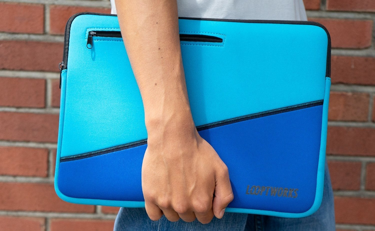Loopworks 15″ Surf Sleeve Upcycled Laptop Case is made of used wetsuit  material