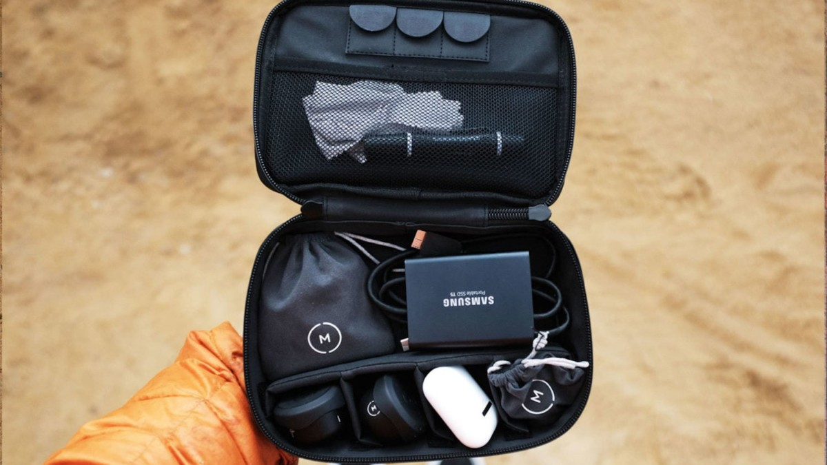 Moment Weatherproof Travel Case Durable Electronics Bag is compact yet holds 4 lenses