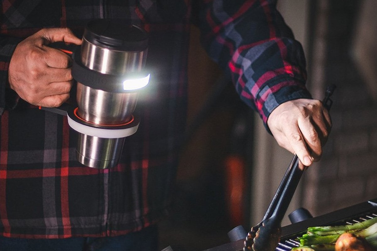 NEBO GLOW Light-Up Tumbler Handle is an easy-to-use handheld light