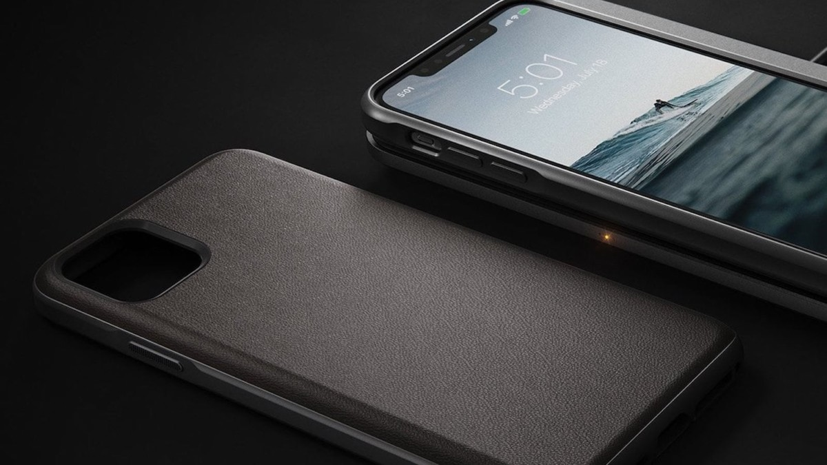 Nomad Active Rugged Defensive iPhone Case is made of water-resistant leather