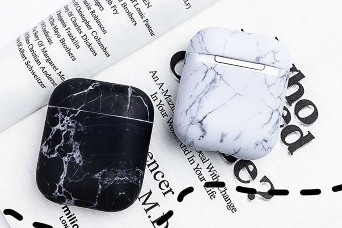 Protective Marble Apple AirPods Case brings some style to your earbuds