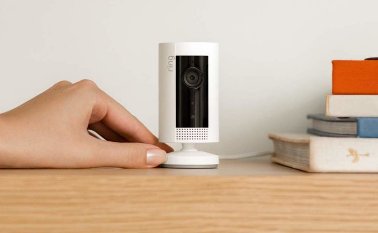 Ring Indoor Cam Compact Plug-In Camera lets you check in at any time from anywhere