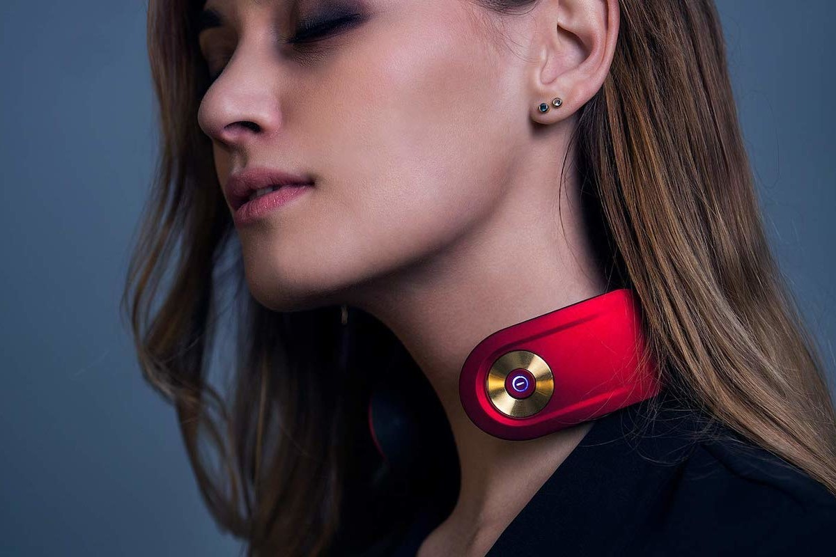 Smart Neck Massager Relaxation Device helps you relieve tension anywhere