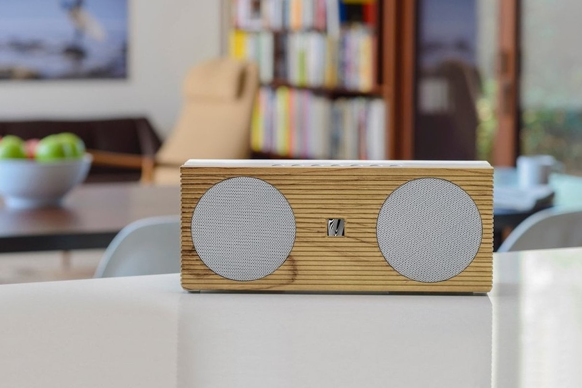 Soundfreaq Double Spot Wireless Home Speaker charges your phone while you listen