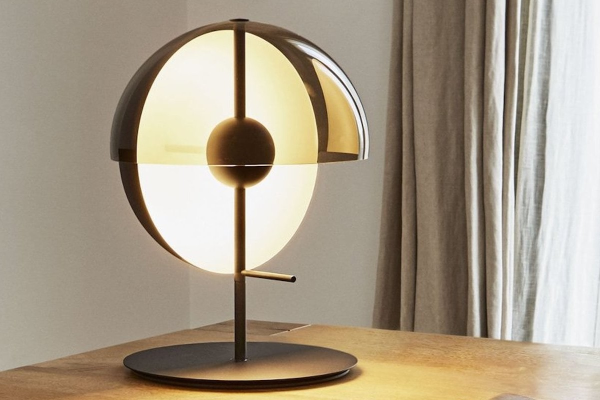 Theia Formal Table Lamp offers direct or ambient light