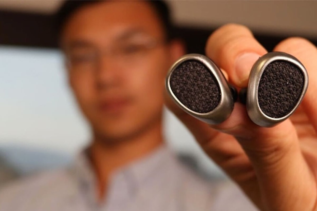 Truebuds Tiny Stereo Cordless Earbuds provide up to 6 hours of battery life